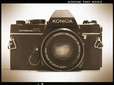 35mm Digital Art - Konica Tc 35mm Camera by Mike McGlothlen