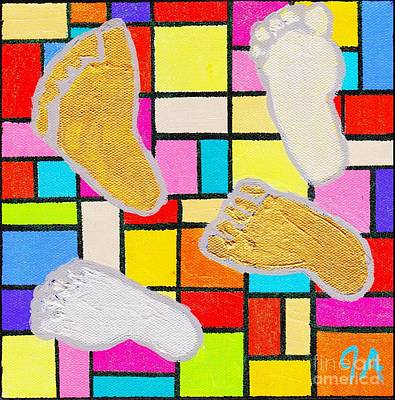 Painting - Konrads Feet by Jeremy Aiyadurai