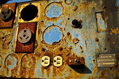 Kontroller Rust And Metal Series Art Print by Mark Weaver