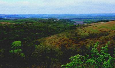 Konza Prairie Photograph - Konza Prairie Overlook By Earl's Photography by Earl  Eells a
