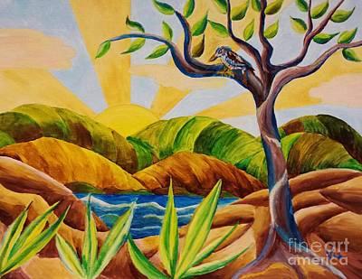 Painting - Kookaburra Landscape by Judy Via-Wolff
