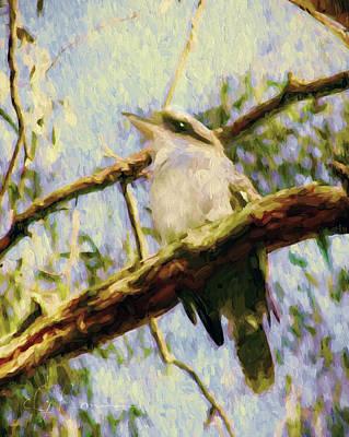 Outdoor Art Mixed Media - Kookaburra Laughing Bird  by Georgiana Romanovna
