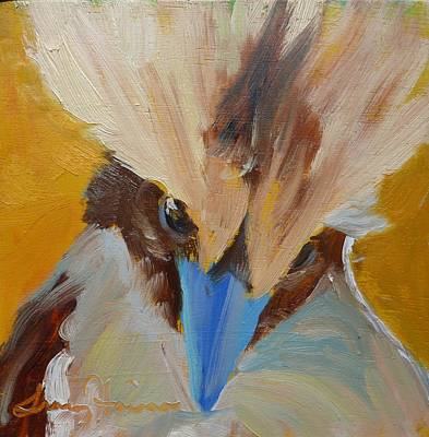 Painting - Kookaburra Stare Down by Tracy Haines