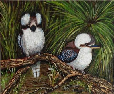 Painting - Kookaburras by Renate Voigt