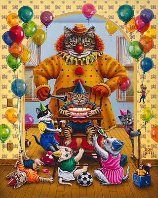 Painting - Kool-kat Birthday by Don Roth