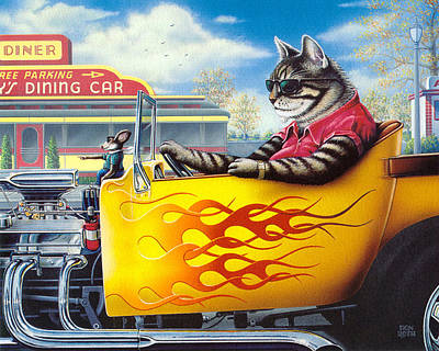 Painting - Kool-kat by Don Roth