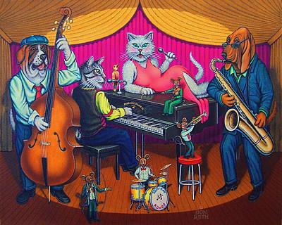 Painting - Kool-kat Kombo by Don Roth