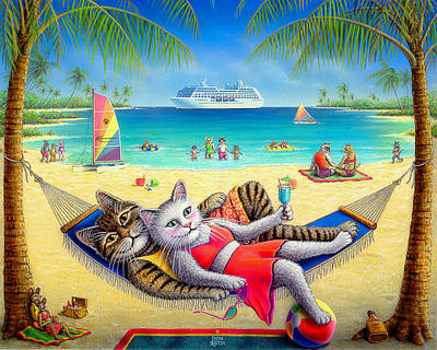 Painting - Kool-kat Kruise by Don Roth