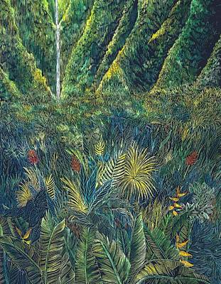 Lush Drawing - Koolau 2 by Cynthia Conklin