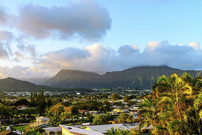 Photograph - Koolau Mountains Sunrise by Jason Chu