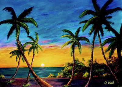 Ko'olina Sunset On The West Side Of Oahu Hawaii #299 Art Print by Donald k Hall