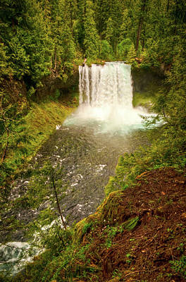 Photograph - Koosah Falls by Connie Cooper-Edwards