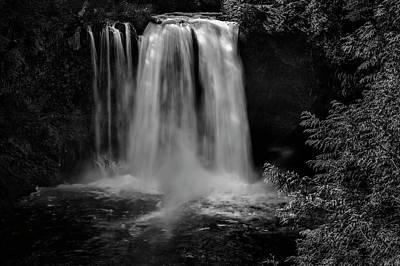 Photograph - Koosah Falls No. 3 Bw by Belinda Greb