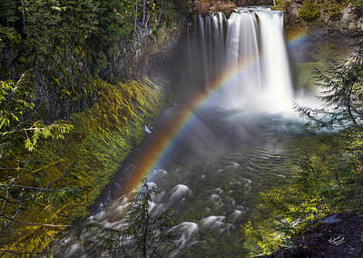 Photograph - Koosah Falls Rainbow by Leland D Howard