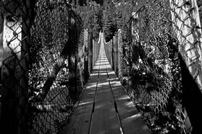 Kootenai Falls Bridge Art Print