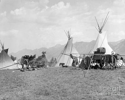 Kootenai First Nations Camp, C.1920-30s Art Print by H. Armstrong Roberts/ClassicStock