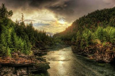 Photograph - Kootenai River Sunset - After The Rain by Robert Hosea