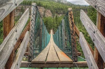 Photograph - Kootenai River Swinging Bridge by Robert Hosea