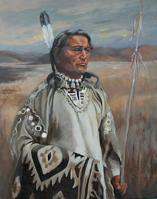 Painting - Kootenay Chief by Synnove Pettersen