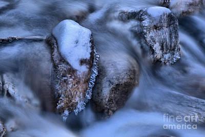 Photograph - Kootenay Frozen Rocks by Adam Jewell