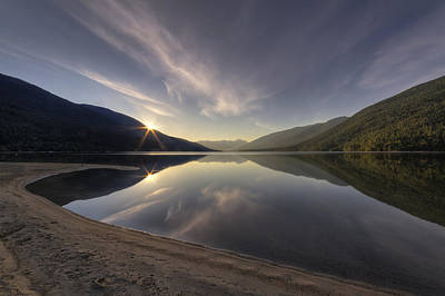 Kootenay Lake Sunrise Art Print