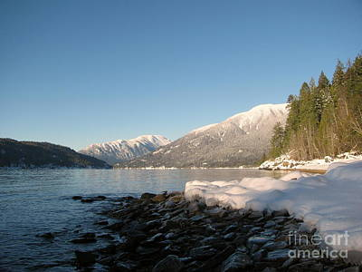 Photograph - Kootenay Lake Winter by Leone Lund