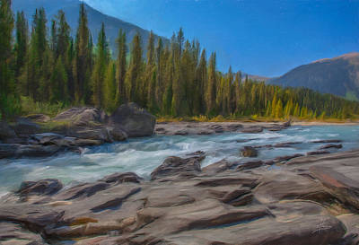 Digital Art - Kootenay River by Eduardo Tavares