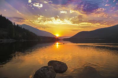 Kootenay Lake Photograph - Kootenay Sunrise by Joy McAdams