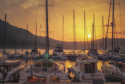 Croatia Photograph - Korcula Sunrise No 2 by Chris Fletcher