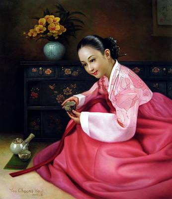 Painting -  Korea Belle 3 by Yoo Choong Yeul