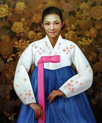 Painting - Korea Belle 6 by Yoo Choong Yeul