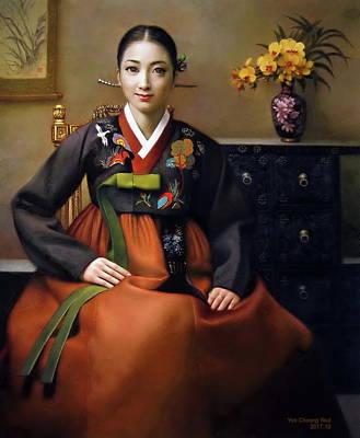 Painting - Korea Belle 7 by Yoo Choong Yeul