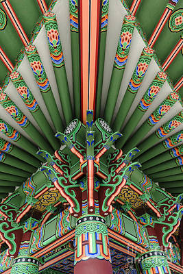 Photograph - Korean Bell Of Friendship Detail San Pedro by David Zanzinger