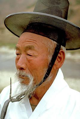 Photograph - Korean Elder by Carl Purcell