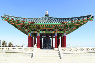Photograph - Korean Friendship Bell In Los Angeles by Ram Vasudev