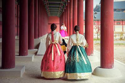 Photograph - Korean Lady In Hanbok by Anek Suwannaphoom
