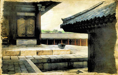 Digital Art - Korean Palace I by Cameron Wood