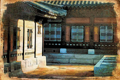 Digital Art - Korean Palace II by Cameron Wood
