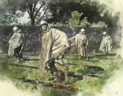 Photograph - Korean Vets by Jack Torcello