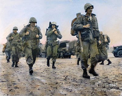 Photograph - Korean War: Marines, 1953 by Granger
