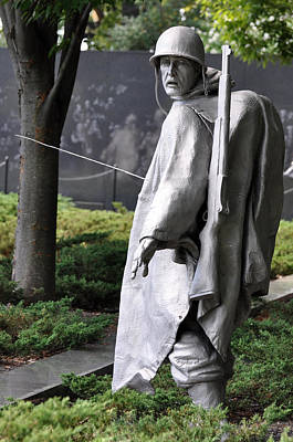 Photograph - Korean War Memorial 2 by Teresa Blanton