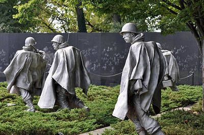 Photograph - Korean War Memorial 3 by Teresa Blanton