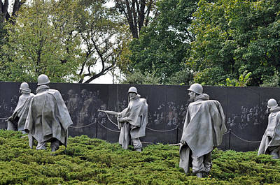 Korean War Memorial 4 Art Print by Teresa Blanton