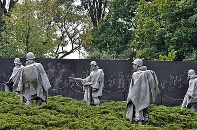 Korean War Memorial 4 Print by Teresa Blanton