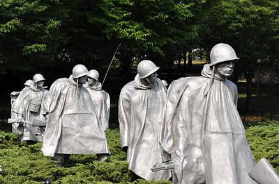 Photograph - Korean War Memorial 6 by Teresa Blanton