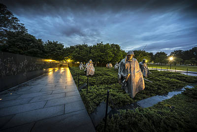Photograph - Korean War Memorial by David Morefield