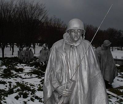 Photograph - Korean War Memorial - Dusk by Francis Chester
