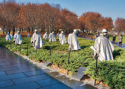 Photograph - Korean War Memorial by Farol Tomson