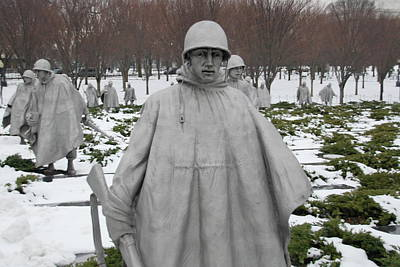 Photograph - Korean War Memorial by Francis Chester