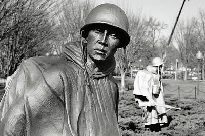 Photograph - Korean War Memorial In Washington Dc by Brandon Bourdages